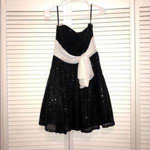 Betsey Johnson Black Sequin Dress